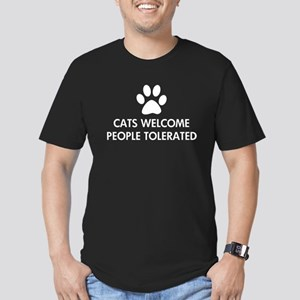 Cats Welcome People Tolerated Men's Fitted T-Shirt