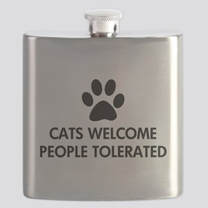 Cats Welcome People Tolerated Flask