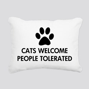 Cats Welcome People Tolerated Rectangular Canvas P