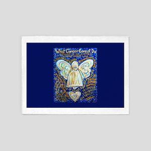 Blue & Gold Cancer Angel 5'x7'Area Rug