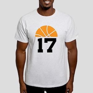 Basketball Number 17 Player Gift Light T-Shirt