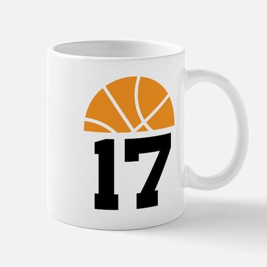 Basketball Number 17 Player Gift Mug