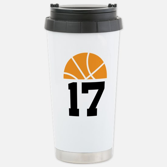 Basketball Number 17 Player Gift Stainless Steel T