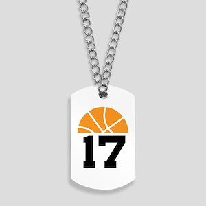Basketball Number 17 Player Gift Dog Tags