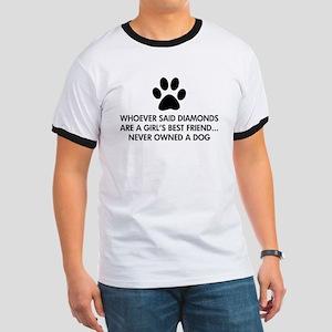 Girl's Best Friend Dog Ringer T