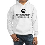 Girl's Best Friend Dog Hooded Sweatshirt