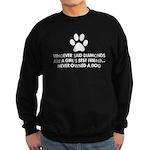 Girl's Best Friend Dog Sweatshirt (dark)
