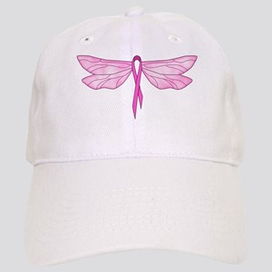 Breast Cancer Dragonfly Cap