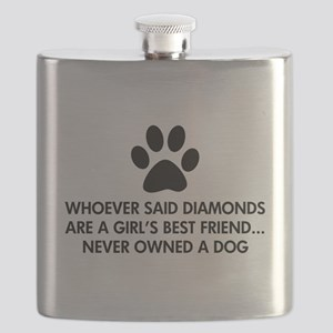 Girl's Best Friend Dog Flask