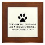 Girl's Best Friend Dog Framed Tile