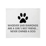 Girl's Best Friend Dog Throw Blanket