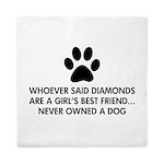 Girl's Best Friend Dog Queen Duvet