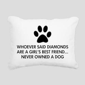 Girl's Best Friend Dog Rectangular Canvas Pillow