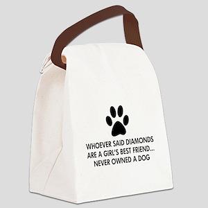 Girl's Best Friend Dog Canvas Lunch Bag