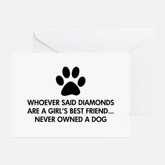 Girl's Best Friend Dog Greeting Cards (Pk of 10)