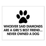 Girl's Best Friend Dog Small Poster
