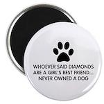 Girl's Best Friend Dog Magnet
