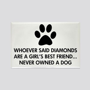 Girl's Best Friend Dog Rectangle Magnet