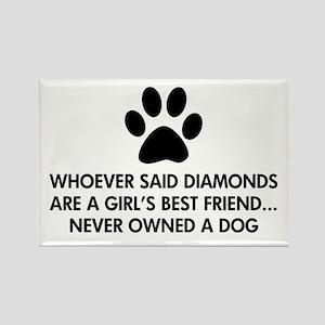 Girl's Best Friend Dog Rectangle Magnet