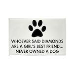 Girl's Best Friend Dog Rectangle Magnet (100 pack)