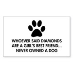 Girl's Best Friend Dog Sticker (Rectangle)