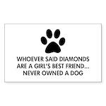 Girl's Best Friend Dog Sticker (Rectangle 50 pk)