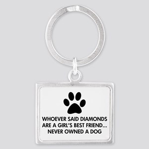 Girl's Best Friend Dog Landscape Keychain