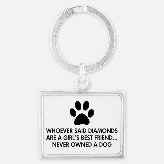 Girl's Best Friend Dog Landscape Keychain