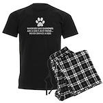 Girl's Best Friend Dog Men's Dark Pajamas
