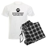 Girl's Best Friend Dog Men's Light Pajamas