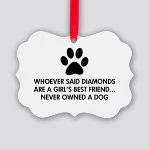 Girl's Best Friend Dog Picture Ornament