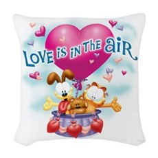 Love Is In The Air Woven Throw Pillow