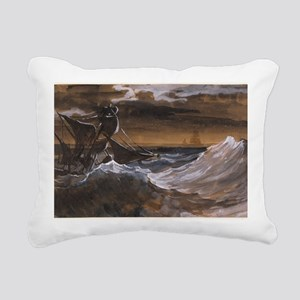 Sailboat on the Sea Rectangular Canvas Pillow
