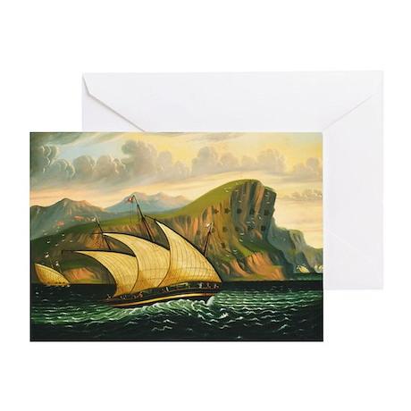 Felucca off Gibraltar Greeting Card