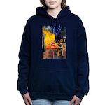 CAFE-BorderT Hooded Sweatshirt