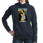 card-Mona-Borzoi1b Hooded Sweatshirt
