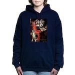 TILE-Lady-Boxer1up Hooded Sweatshirt