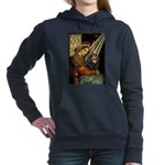 TILE-MadonnaCav-Blk-Tan Hooded Sweatshirt