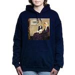ORN-Oval-WMom-Cav-Tri Hooded Sweatshirt