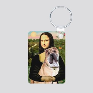 MP-MONA-Sharpei5 Aluminum Photo Keychain