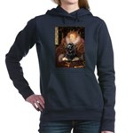 Cocker (black) - Queen Hooded Sweatshirt