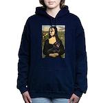 Mona Lisa/Dachshund (BT4 Women's Hooded Sweatshirt