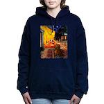 MP-Cafe-Dachs-Brwn1 Hooded Sweatshirt