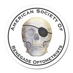 Renegade Optometrists Round Car Magnet