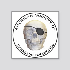 "Renegade Paramedics Square Sticker 3"" x 3"""