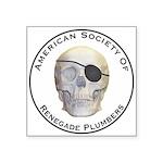 Renegade Plumbers Square Sticker 3
