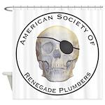 Renegade Plumbers Shower Curtain