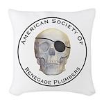 Renegade Plumbers Woven Throw Pillow