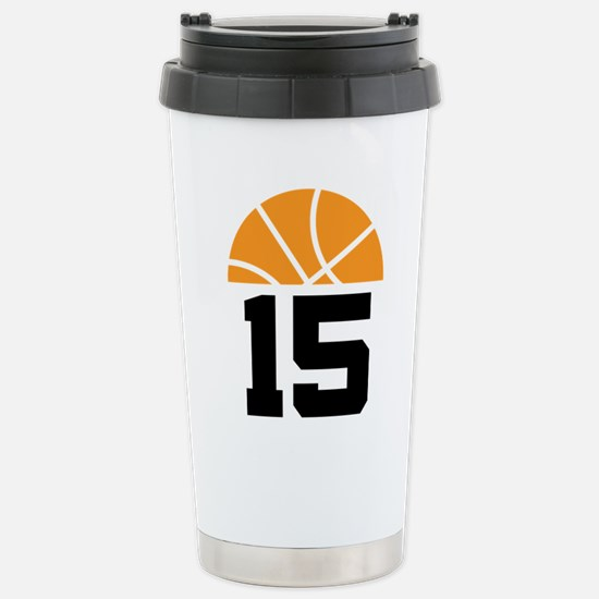 Basketball Number 15 Player Gift Stainless Steel T