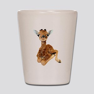 baby giraffe Shot Glass